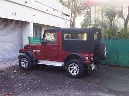 landi jeep my li u0027l red mahindra thar with some practical modifications team bhp