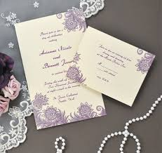 purple wedding invitation kits diy purple ivory flourish invitations kit lilacs weddings and