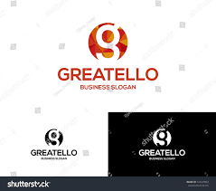 Types Of Business Letters And by G Letter Logo Creative Colorful Logotypegreat Stock Vector