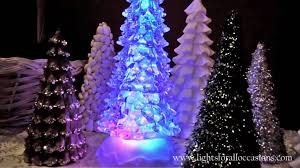 color changing lights lighted tree w glitter