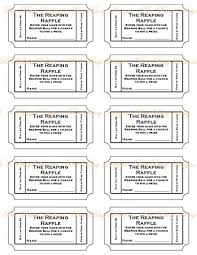 raffle tickets printable hunger reaping raffle tickets bee busy designs