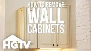 removing kitchen wall cabinets how to remove kitchen cabinets hgtv