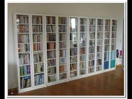 Glass Bookcase With Doors Book Shelf With Glass Door