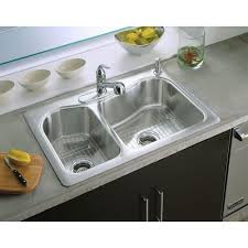 Kitchen Accessories Kohler Polished Chrome Faucet And Double Bowl - Kohler double kitchen sink