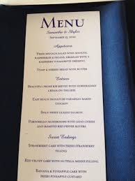 vista print wedding programs vistaprint rack cards for wedding dinner menu sjb wedding