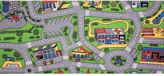 Kid Play Rug Tapestry Rug City Carpet Play Mat Floor Learning Living