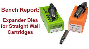 bench report expander dies for straight wall cartridges youtube