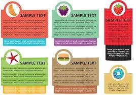 Vorlage Lorem Ipsum Lebensmittel Info Textfeld Vorlage Vektoren Kostenlose Vektor