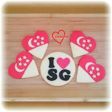 Flag Cookie Cutter Loving Creations For You Sg50 Icing Free Shortbread Cookies