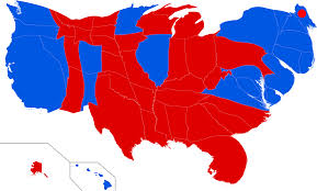 Cartogram Map File United States Presidential Election 2016 Cartogram Png