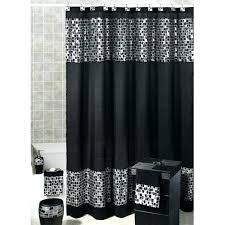 Black Shower Curtain Hooks Silver Shower Curtain A Black And Silver Shower Curtains