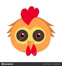 bird carnival mask rooster chicken hen fowl u2014 stock vector