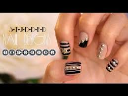 studded nail design tutorial youtube