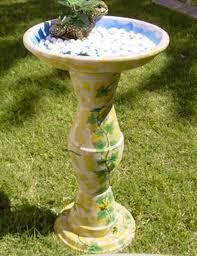 Pedestal Pots 10 Simple Diy Flower Pot Bird Bath Creations Garden Lovers Club