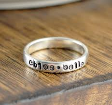 mothers rings stackable mothers ring stackable name rings gift for name rings