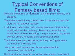 Fantasy Film Genre Conventions | fantasy films pp