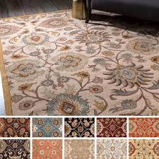 Area Rug 9 X 12 Tufted Alameda Traditional Floral Wool Area Rug 9 X 12
