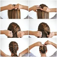 how to braid short hair step by step french braid your own hair women medium haircut