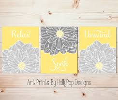 Gray And Yellow Bathroom by Artwork For Bathrooms Bathroom Decor Art Prints Bathroom Prints