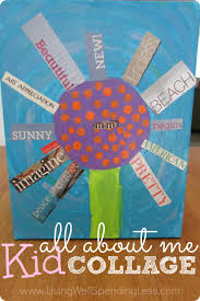 all about me kid collage fun easy crafts easy craft projects