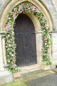 wedding arches building plans an arch decorating the entrance to a church wedding centerpiece