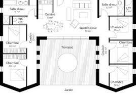 plan maison plain pied 5 chambres plan maison plain pied avec 3 chambres et garage ooreka plan con