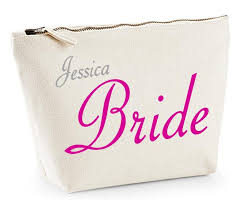 bridal party makeup bags personalised make up bag or wash bag designs for