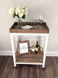 Build Wooden End Table by Diy Bar Cart Diy Bar Cart Diy Bar And Wine Bars