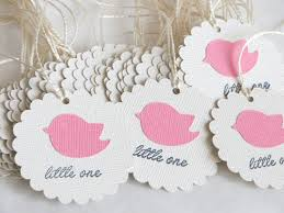 bird baby shower favor tags little birdie baby shower tags
