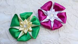 ribbon flowers diy ribbon flower kanzashi flower tutorial