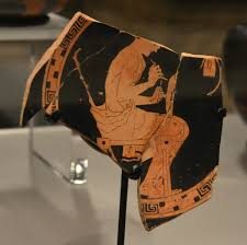 File Fragmentary Kylix Depicting A Painter Decorating A Kylix By