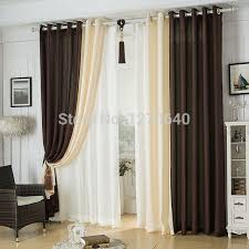 Hotel Room Darkening Curtains Modern Linen Splicing Curtains Dining Room Restaurant Hotel
