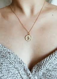necklace pendant coin images Gold coin pendant necklace ashley summer co jpg
