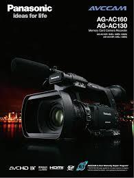 Pdf Manual For Panasonic Camcorders Ag Ac160