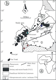 Map Of Cameroon Petrochemical Characterization Of Two Distinct Types Of Dolerites