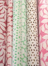 beautiful wrapping paper spray painted lace wrapping paper