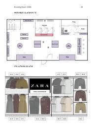 layout zara store fashion merchandising seminar zara