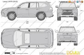 lexus van 2017 the blueprints com vector drawing lexus lx570