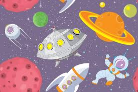 cartoon ufo wallpaper wall mural