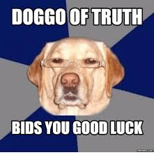 Funny Good Luck Memes - doggo of truth bids you good luck memes com doggo meme on me me