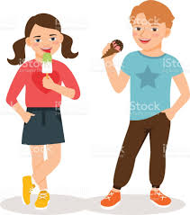 ice cream clipart silhouette of boy eating ice cream clip art vector images