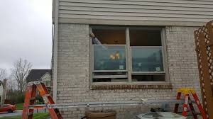 ann arbor mi window replacement and patio door replacement needs ann arbor mi installing renewal by andersen double hung windows with fibrex brickmold