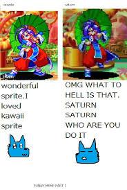 Arcade Meme - funny meme part 1 rabbit arcade vs saturn by shershen by shershen
