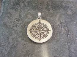 pendant engraving jewelry engraved sterling silver compass pendant