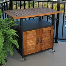 Outdoor Kitchen Storage Cabinets - rolling outdoor cabinet for table top grills traditional patio