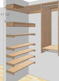 Woodworking Plans Free Standing Shelves by Free Woodworking Plans To Build A Custom Closet Organizer For Wide