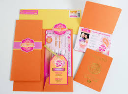 indian wedding cards in india the ayesha passport and boarding pass style indian wedding