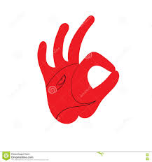 ok hand sign design of the head of a rooster stock illustration