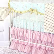 Pink And Teal Crib Bedding by Pink U0026 Aqua Floral Sparkle Baby Bedding Caden Lane