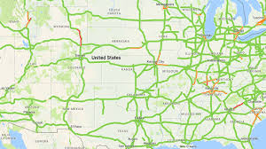traffic map maps shows traffic jams along path of eclipse